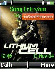 Lithium Cell es el tema de pantalla