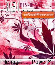 Pink Plant theme screenshot