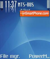 Line Blue theme screenshot