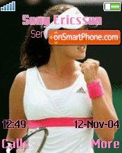 Ana Ivanovic theme screenshot