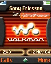 W810 Walkman theme screenshot