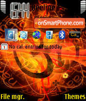 Trance theme screenshot