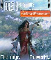Fantasy Girl theme screenshot