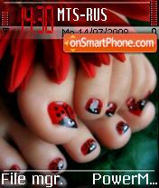 Ladybug Toes es el tema de pantalla