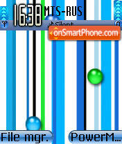 Blue Stripe theme screenshot