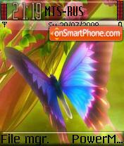 Rainbow Butterfly es el tema de pantalla
