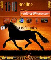 Running Horse es el tema de pantalla