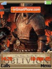 Oblivion es el tema de pantalla