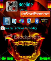 Skull 2 es el tema de pantalla