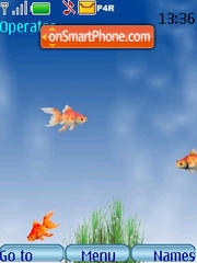 Gold fish animated theme screenshot