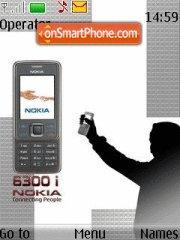 Nokia 6300i es el tema de pantalla