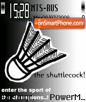 Badminton Shuttlecock theme screenshot