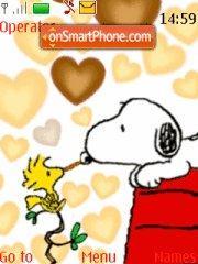 Cute Snoopy theme screenshot
