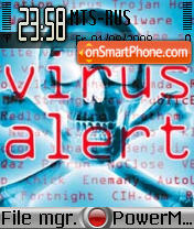 Virus Alert theme screenshot
