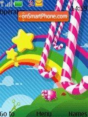 Rainbow Abstract es el tema de pantalla