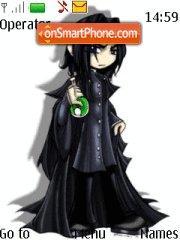 Severus Snape Anime Style theme screenshot
