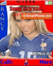 France Girl theme screenshot