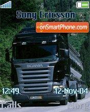 Scania r580 es el tema de pantalla