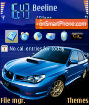 Subaru STI es el tema de pantalla