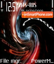 Distorted Nokia 010 theme screenshot