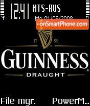 Guinness Draught es el tema de pantalla