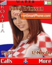 Croatian Girl theme screenshot
