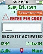 Enter Pin Code es el tema de pantalla