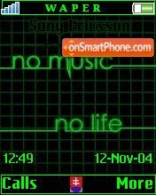 No music No life theme screenshot