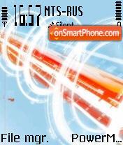 Blue Orange 01 theme screenshot