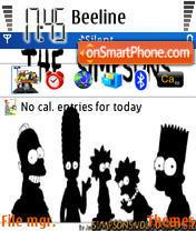 The Simpsons theme screenshot