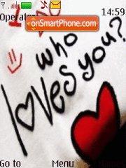 Who Loves You theme screenshot