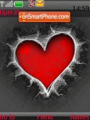 Red Heart 01 theme screenshot