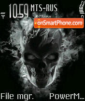 Skull Gost theme screenshot
