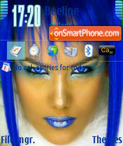 Blue Girls 3250 es el tema de pantalla