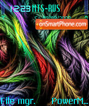 Colors Feathers theme screenshot
