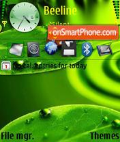 Green 3d v2 es el tema de pantalla