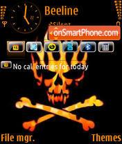 Orange Skull theme screenshot