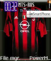 AC Milan Football Club theme screenshot