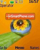 Sunflower Droplet es el tema de pantalla