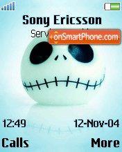 Cyan Skull theme screenshot