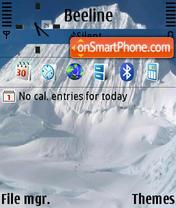 Snow Mountain 01 es el tema de pantalla