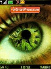 Abstract Eye clock es el tema de pantalla
