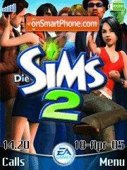 The Sims2 es el tema de pantalla