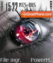 Colored eyes theme screenshot