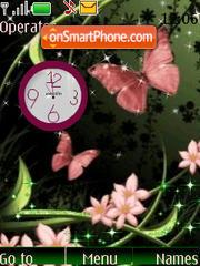 SWF clock flowers theme screenshot