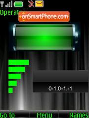 SWF clock $ indicators theme screenshot