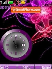 SWF clock Abstract es el tema de pantalla