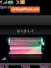 SWF pink clock $ indicators theme screenshot