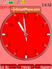 SWF tux clock theme screenshot