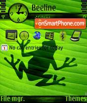 Frog shadow s60v3 es el tema de pantalla